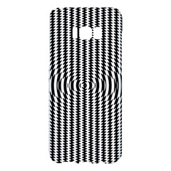 Vertical Lines Waves Wave Chevron Small Black Samsung Galaxy S8 Plus Hardshell Case