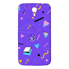 Vintage Unique Graphics Memphis Style Geometric Style Pattern Grapic Triangle Big Eye Purple Blue Samsung Galaxy Mega I9200 Hardshell Back Case