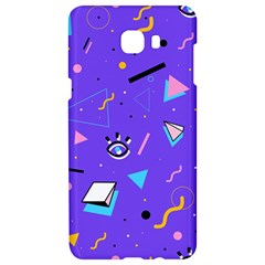 Vintage Unique Graphics Memphis Style Geometric Style Pattern Grapic Triangle Big Eye Purple Blue Samsung C9 Pro Hardshell Case