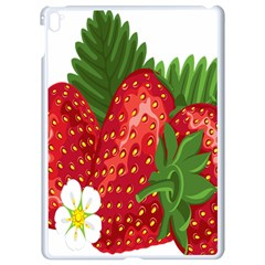 Strawberry Red Seed Leaf Green Apple Ipad Pro 9 7   White Seamless Case