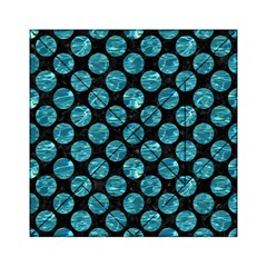 Circles2 Black Marble & Blue Green Water Acrylic Tangram Puzzle (6  X 6 )