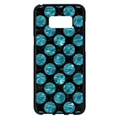 Circles2 Black Marble & Blue Green Water Samsung Galaxy S8 Plus Black Seamless Case