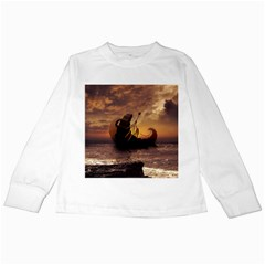 Steampunk Fractalscape, A Ship For All Destinations Kids Long Sleeve T Shirts