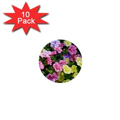 Lovely Flowers 17 1  Mini Buttons (10 Pack)