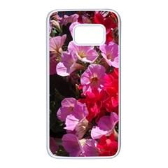 Wonderful Pink Flower Mix Samsung Galaxy S7 White Seamless Case