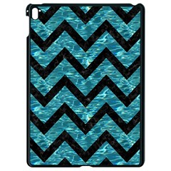 Chevron9 Black Marble & Blue Green Water (r) Apple Ipad Pro 9 7   Black Seamless Case