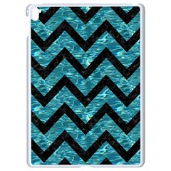 Chevron9 Black Marble & Blue Green Water (r) Apple Ipad Pro 9 7   White Seamless Case
