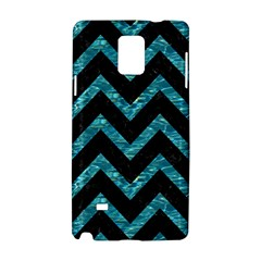 Chevron9 Black Marble & Blue Green Water Samsung Galaxy Note 4 Hardshell Case
