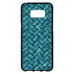 Brick2 Black Marble & Blue Green Water (r) Samsung Galaxy S8 Plus Black Seamless Case