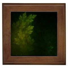 Beautiful Fractal Pines In The Misty Spring Night Framed Tiles