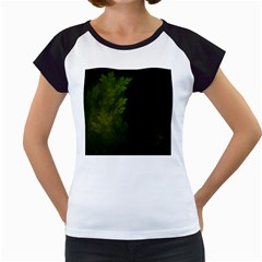 Beautiful Fractal Pines In The Misty Spring Night Women s Cap Sleeve T