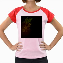 Beautiful Fractal Pines In The Misty Spring Night Women s Cap Sleeve T Shirt