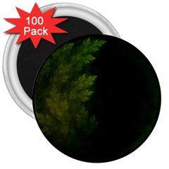 Beautiful Fractal Pines In The Misty Spring Night 3  Magnets (100 pack)