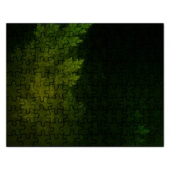 Beautiful Fractal Pines In The Misty Spring Night Rectangular Jigsaw Puzzl
