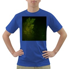 Beautiful Fractal Pines In The Misty Spring Night Dark T-Shirt