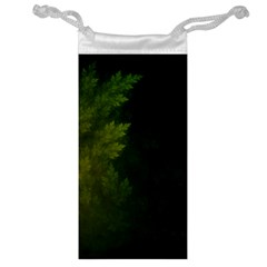 Beautiful Fractal Pines In The Misty Spring Night Jewelry Bag