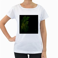 Beautiful Fractal Pines In The Misty Spring Night Women s Loose-Fit T-Shirt (White)