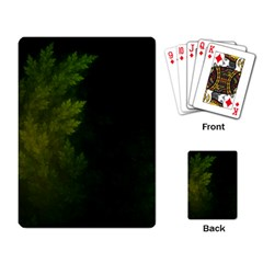 Beautiful Fractal Pines In The Misty Spring Night Playing Card