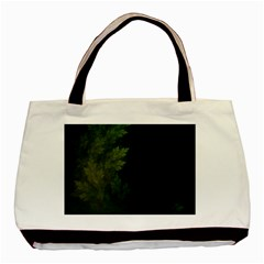 Beautiful Fractal Pines In The Misty Spring Night Basic Tote Bag