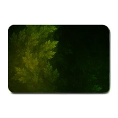 Beautiful Fractal Pines In The Misty Spring Night Plate Mats
