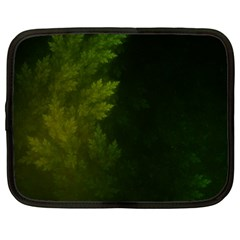 Beautiful Fractal Pines In The Misty Spring Night Netbook Case (Large)