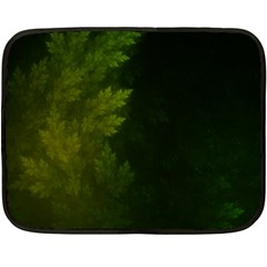 Beautiful Fractal Pines In The Misty Spring Night Double Sided Fleece Blanket (Mini)