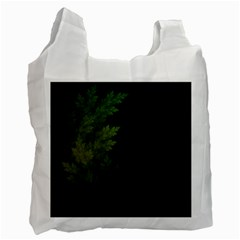 Beautiful Fractal Pines In The Misty Spring Night Recycle Bag (Two Side)