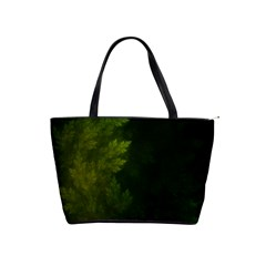 Beautiful Fractal Pines In The Misty Spring Night Shoulder Handbags