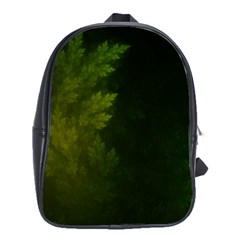 Beautiful Fractal Pines In The Misty Spring Night School Bags(Large)