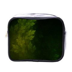 Beautiful Fractal Pines In The Misty Spring Night Mini Toiletries Bags