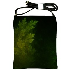 Beautiful Fractal Pines In The Misty Spring Night Shoulder Sling Bags