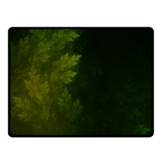 Beautiful Fractal Pines In The Misty Spring Night Fleece Blanket (Small)