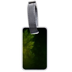 Beautiful Fractal Pines In The Misty Spring Night Luggage Tags (One Side)