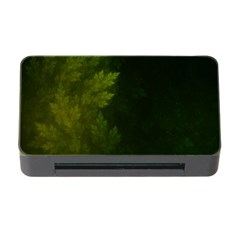 Beautiful Fractal Pines In The Misty Spring Night Memory Card Reader with CF