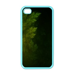 Beautiful Fractal Pines In The Misty Spring Night Apple iPhone 4 Case (Color)