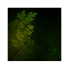 Beautiful Fractal Pines In The Misty Spring Night Acrylic Tangram Puzzle (6  x 6 )