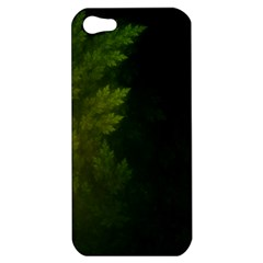 Beautiful Fractal Pines In The Misty Spring Night Apple iPhone 5 Hardshell Case