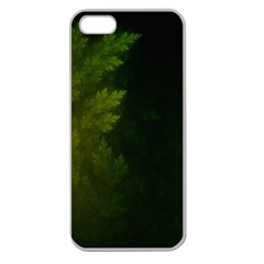 Beautiful Fractal Pines In The Misty Spring Night Apple Seamless iPhone 5 Case (Clear)