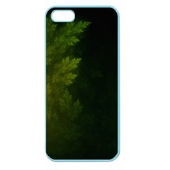 Beautiful Fractal Pines In The Misty Spring Night Apple Seamless Iphone 5 Case (color)