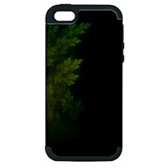 Beautiful Fractal Pines In The Misty Spring Night Apple iPhone 5 Hardshell Case (PC+Silicone)