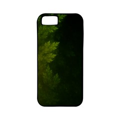 Beautiful Fractal Pines In The Misty Spring Night Apple iPhone 5 Classic Hardshell Case (PC+Silicone)