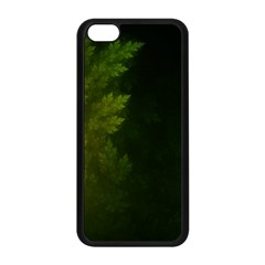 Beautiful Fractal Pines In The Misty Spring Night Apple iPhone 5C Seamless Case (Black)