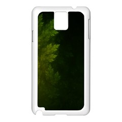 Beautiful Fractal Pines In The Misty Spring Night Samsung Galaxy Note 3 N9005 Case (White)