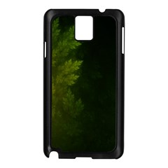 Beautiful Fractal Pines In The Misty Spring Night Samsung Galaxy Note 3 N9005 Case (Black)