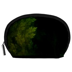 Beautiful Fractal Pines In The Misty Spring Night Accessory Pouches (Large)