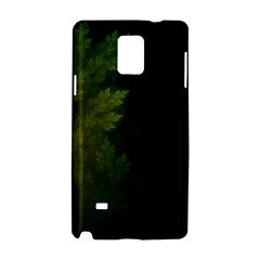 Beautiful Fractal Pines In The Misty Spring Night Samsung Galaxy Note 4 Hardshell Case