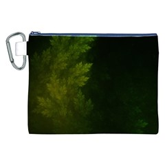 Beautiful Fractal Pines In The Misty Spring Night Canvas Cosmetic Bag (XXL)