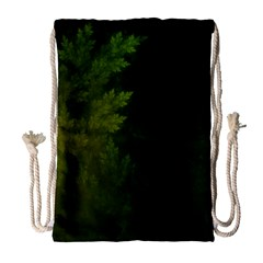 Beautiful Fractal Pines In The Misty Spring Night Drawstring Bag (Large)