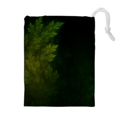 Beautiful Fractal Pines In The Misty Spring Night Drawstring Pouches (Extra Large)