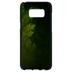 Beautiful Fractal Pines In The Misty Spring Night Samsung Galaxy S8 Black Seamless Case